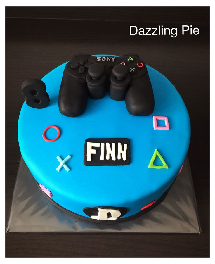 Play Station taart/cake made by Dazzling Pie