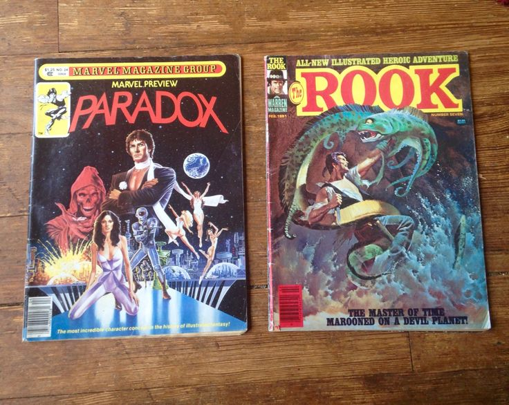 Comic Book Lot - Marvel Preview: Paradox; Vol 1, 24 and The Rook; Vol 1, 7. FN Range Conditions. 1981. Warren and Marvel Magazines. #rook #marvelpreview #comicsforsale