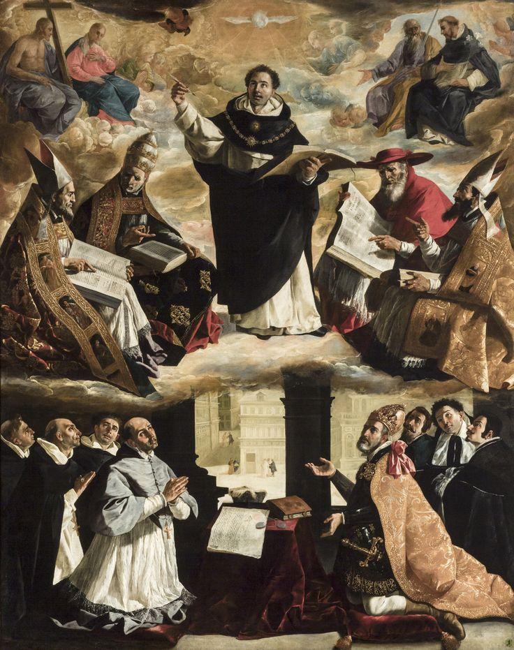 Francisco de Zurbarán  The Apotheosis of Saint Thomas Aquinas, 1631  Museum of Fine Arts, Seville, Spain