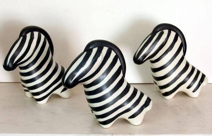 vintage arabia zebra, midcentury pottery #arabia #finland
