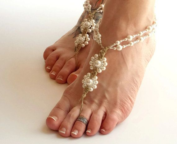 Hey, I found this really awesome Etsy listing at https://www.etsy.com/listing/263022222/pearl-barefoot-sandals-wedding-footwear