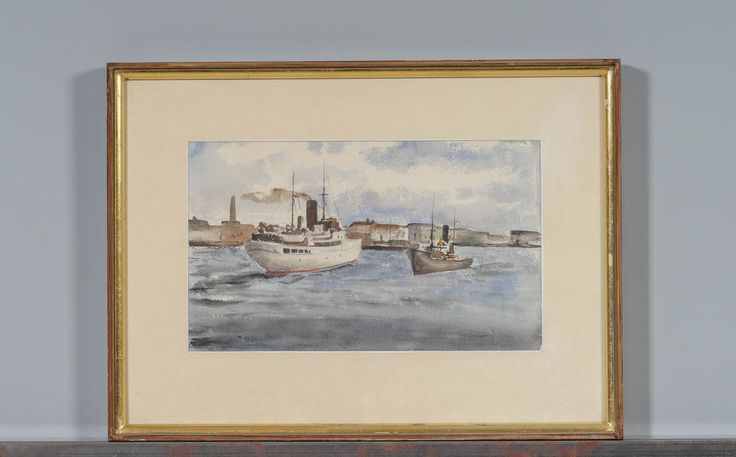 Håkan Brunberg, akvarelli, 20x35 cm - Huutokauppa Helander 1/2016