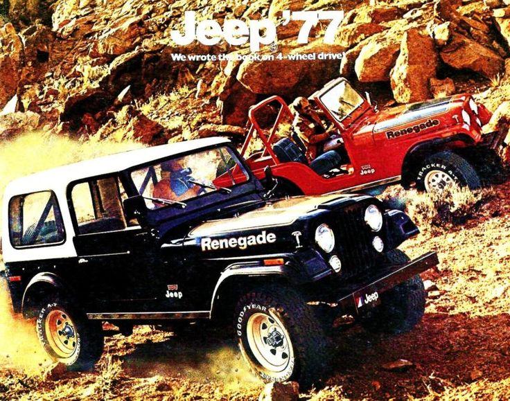 FOLLETO De Lujo Jeep 1977-CJ5-CJ7 - Cherokee-Wagoneer-J10 Honcho-J20 Pickup