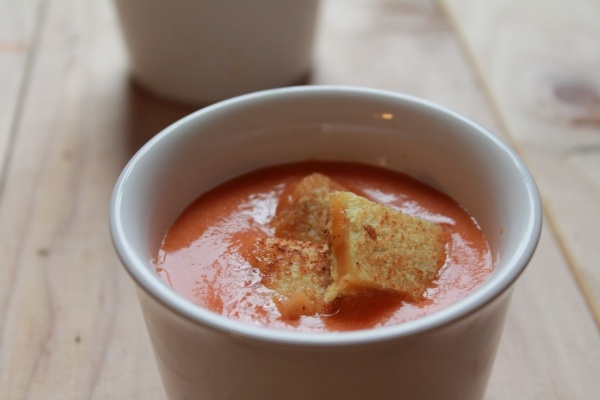 tomato soup with grilled cheese croutons | Recipes For Food & Drink ...
