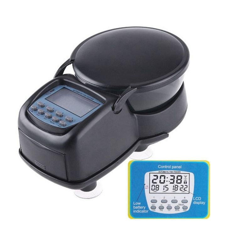 Digital LCD Automatic Aquarium Tank Automatic Fish Feeder Timer Food Feeding Electronic Fish Food Feeder Timer fish supplies