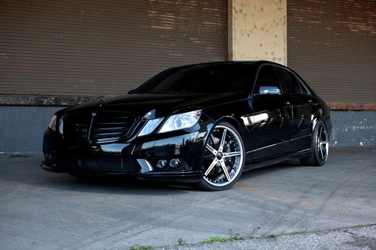 Blaque diamond bd 10 wheels on mercedes benz e550 amg www for Mercedes benz e550 amg