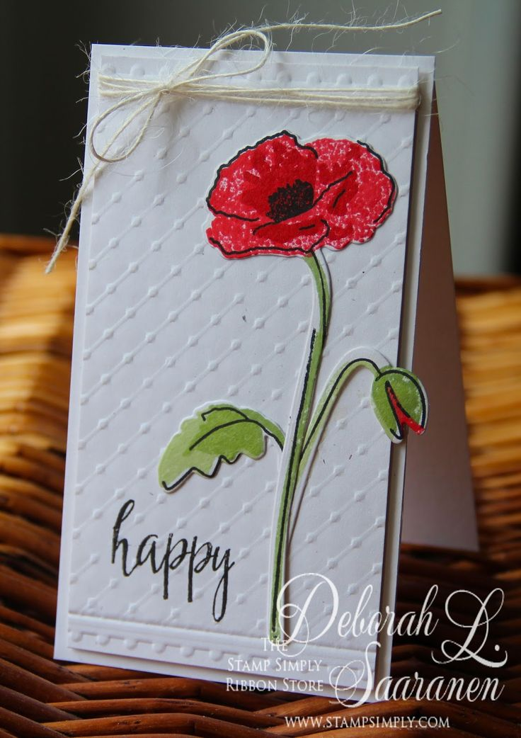Dream in Color...: Altenew Painted Poppies CAS