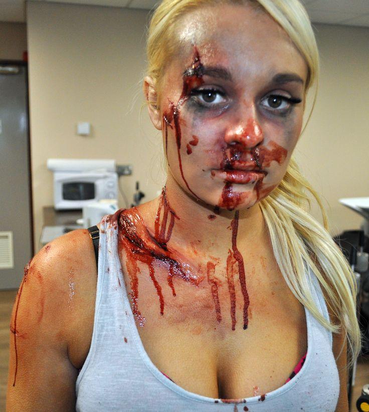 casualty trauma car accident practical exam fake woundsmedia makeupcar crashportfolio ideashalloween - Halloween Fake Wounds