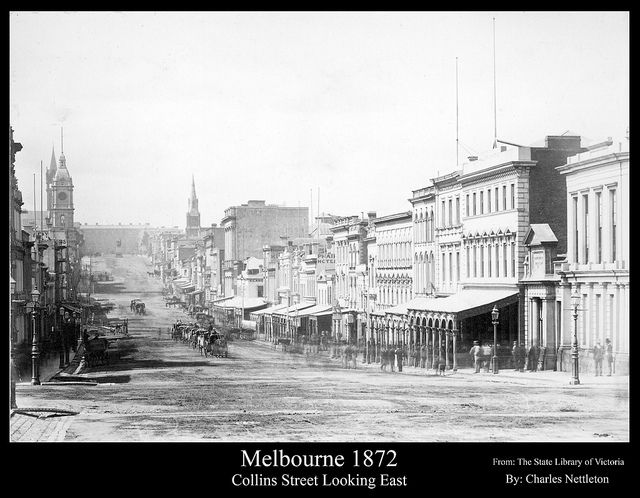 Looking east along Collins Street, Melbourne 1872 | Flickr - Photo Sharing!