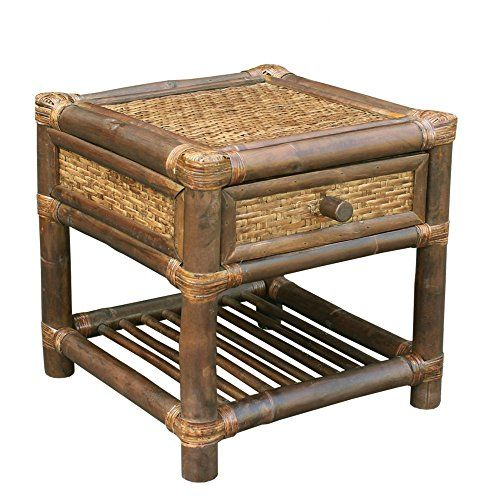 Sensational Zew Ac 041 06 Bamboo End Table Espresso Home Kitchen In Home Interior And Landscaping Ologienasavecom