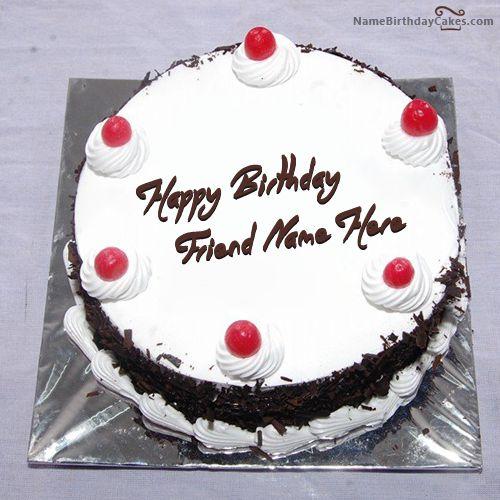 Write Name On Black Forest Birthday Cake Happy Birthday
