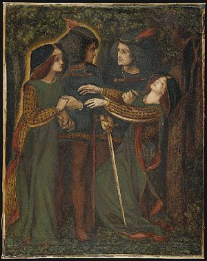 Doppelgänger - how they met themselves - interpreted by Rossetti