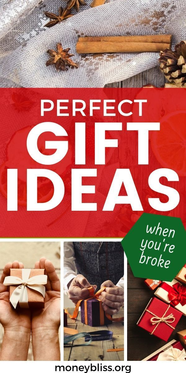 Awesome Gift Ideas When You Re Broke Money Bliss Christmas On A Budget Christmas Worksheets Gifts
