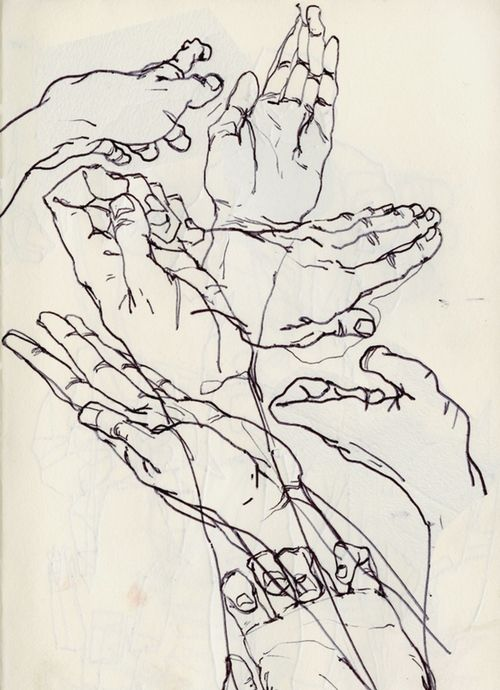 Contour Line Drawings Of Figures Or Objects : Best contour hands objects images on pinterest