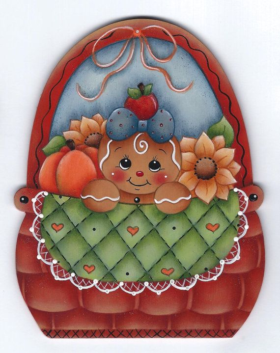 Autumn Basket Gingerbread Painting E-Pattern by GingerbreadCuties