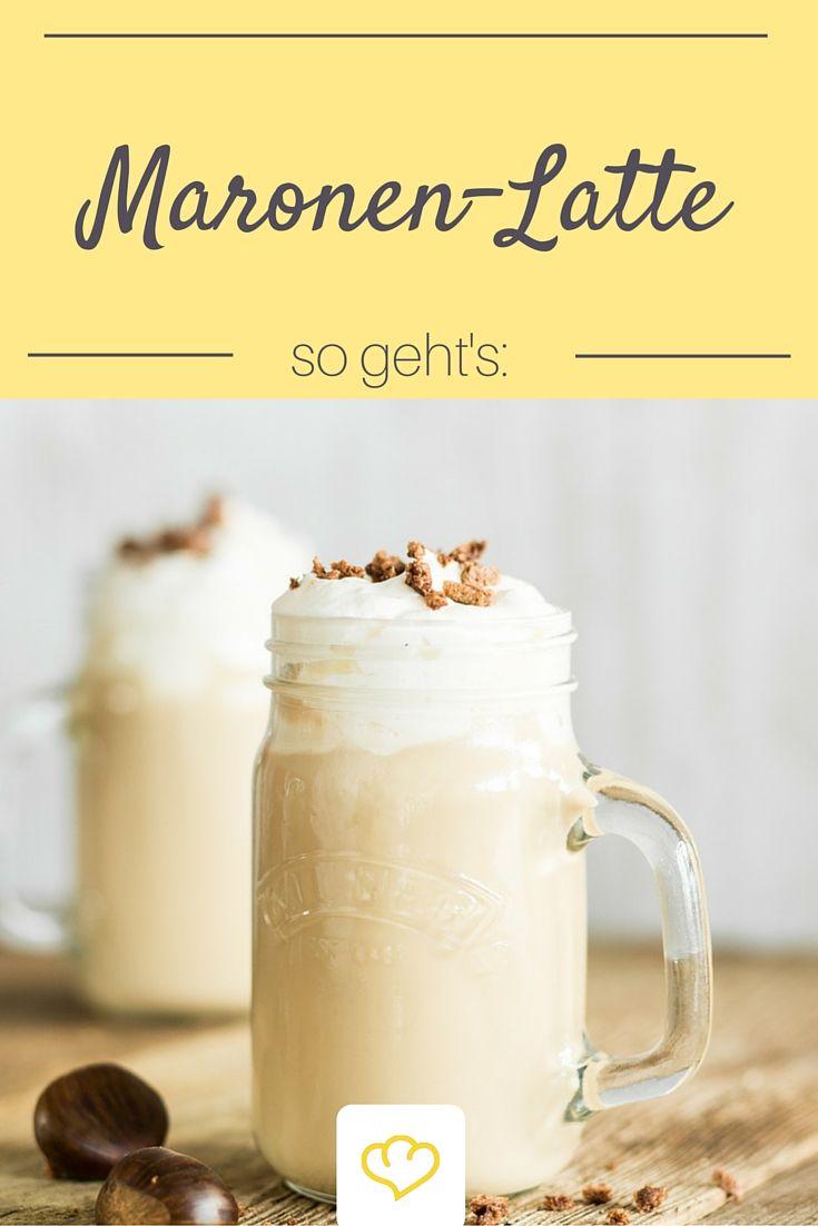 Caffé-Latte mit selbstgemachten Maronen-Sirup - unbedingt ausprobieren!