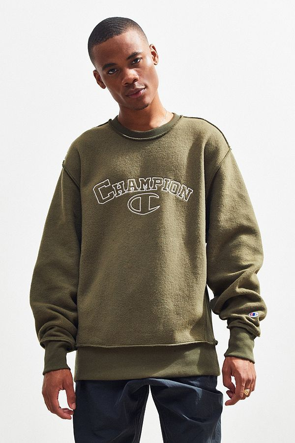 4ed7871e4 Champion UO Exclusive Embroidered Inside Out Crew-Neck Sweatshirt ...