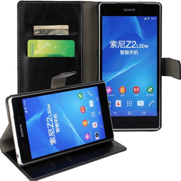 New Case - Black Luxury Leather Wallet Stand Case for Sony Xperia Z2, $14.95 (http://www.newcase.com.au/black-luxury-leather-wallet-stand-case-for-sony-xperia-z2/)
