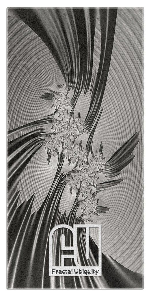 Crystal Ocean Microfiber Polyester Oversized Beach Towel  by Fractal Ubiquity