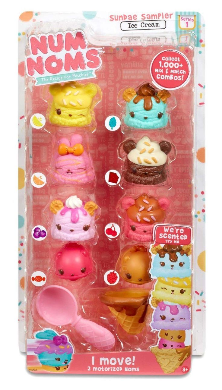 Num Noms Series 1 - Deluxe Multi-Pack 8-Pack - Ice Cream Sundae Sampler Pack in Toys, Hobbies, Character Toys | eBay