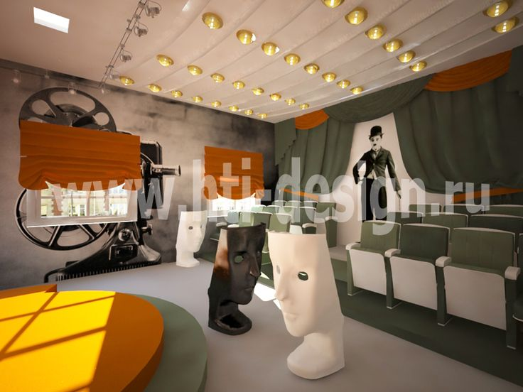 Youth center in military style - actor's studio