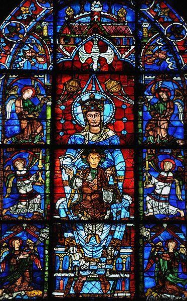 Título: Notre-Dame de la Belle –Verrière Autor: Vassil Lugar: Catedral de Chartres Año: XII Escuela: Gótica