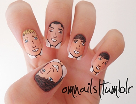 Easy One Direction Nail Art