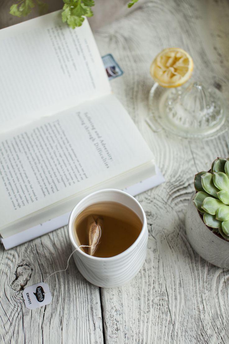 "Reading ""Book Of Joy"" by Dalai Lama and drinking tea. See more at http://honestmunchies.com"