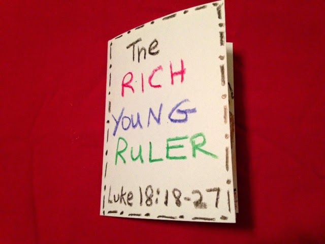Luke 18:18-27. The Rich young Ruler. Are we ever anxious to know the answer to a spiritual question? Jesus has a conversation with a young man who was running to Him and was not afraid to ask a question on the blog tonight. His question was one of the greatest importance! Easy, inexpensive, and unique children's Bible lessons. Free to all!  Take a look and share!