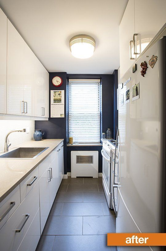 775 best galley kitchens images on pinterest kitchen for Pictures of updated galley kitchens