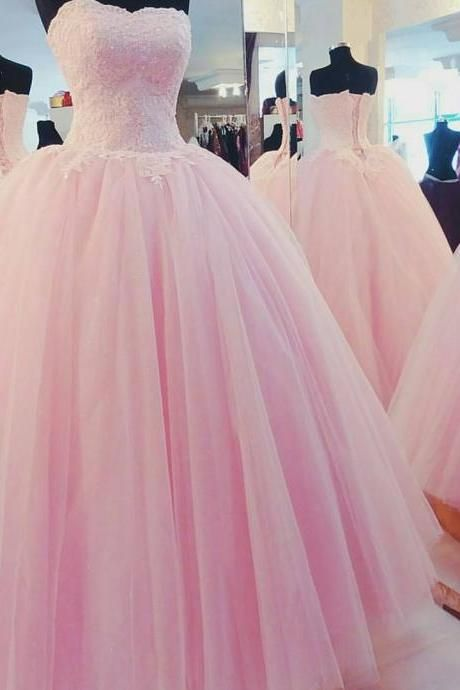 pink tulle ball gowns,prom dresses 2016,quinceanera dresses,ball gowns evening dresses,wedding engagement dresses