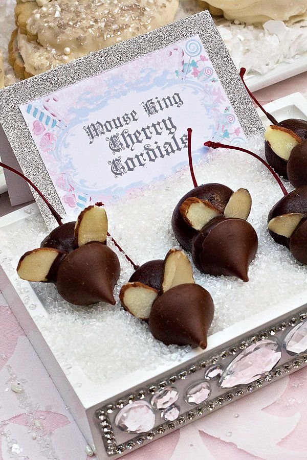 mouse king chocolate cherry cordials for a nutcracker themed christmas birthday party