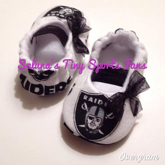 Oakland Raiders  Baby Maryjane Booties by saluna on Etsy, $17.99