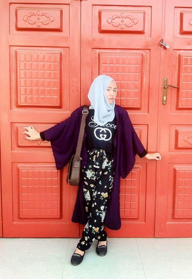 #muslimah wear, kimono, hijab style. kimono made by me :D