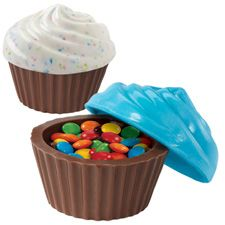 3-D Cupcake Look Container Classic Candy Mold - can't wait to get this. I have made many candies using wilton molds, and other molds, and wilton molds are definately the best.