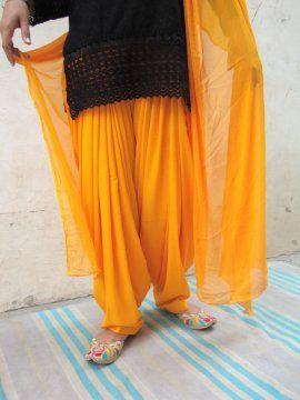 Patiala Salwar/shalwaar + Matching Dupatta from Patiala City