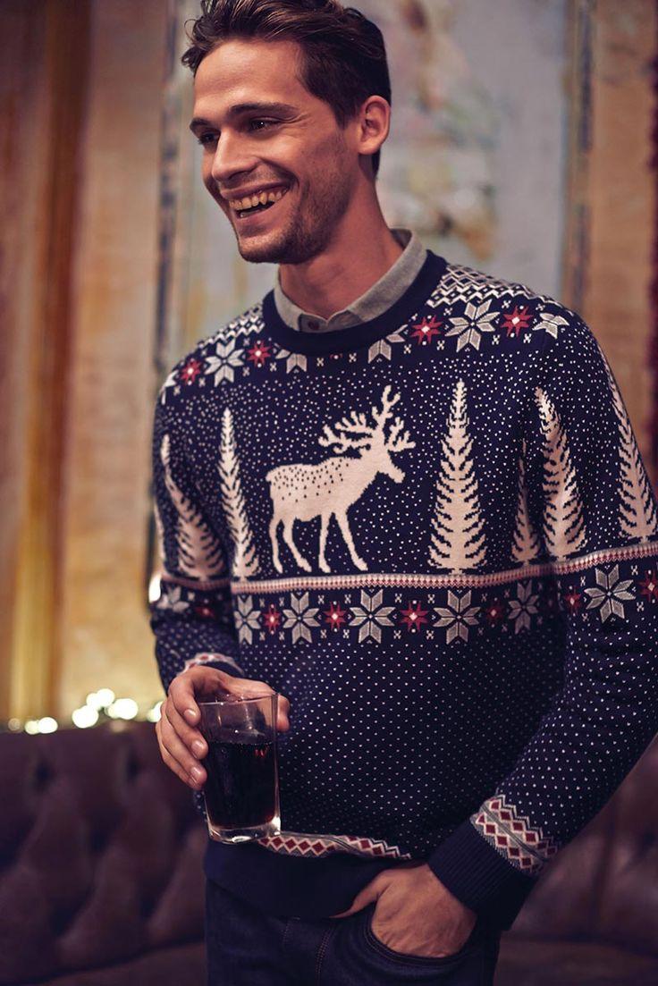 Pinterest board has a lot of reindeer themed sweaters, cross stitch, etc - http://www.pinterest.com/ludmpashkova777/%D0%BE%D0%BB%D0%B5%D0%BD%D0%B8/