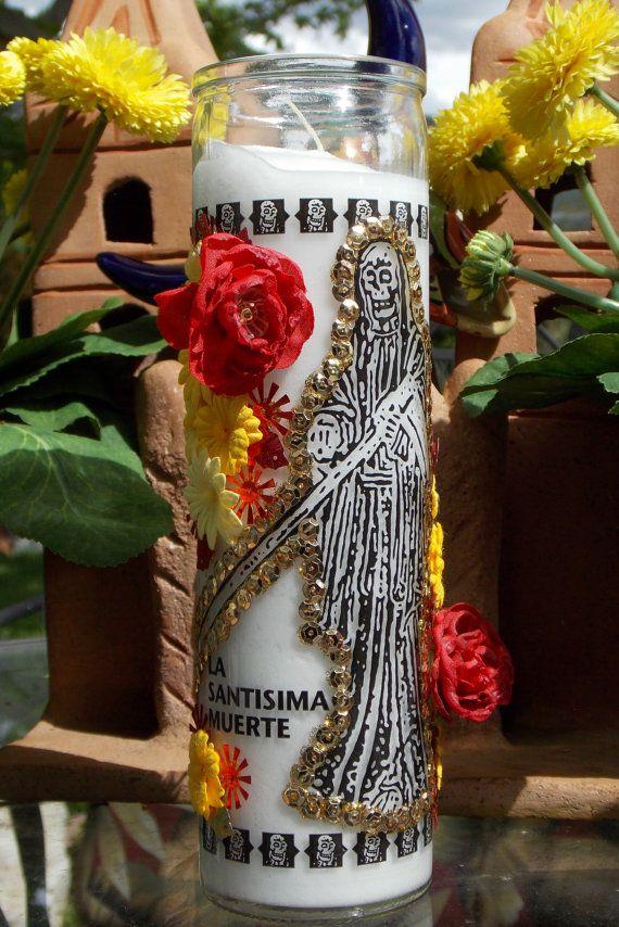 La Santisima Muerte Saint Death Votive Candle by GapToothBodega