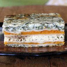 Butternut squash, caramelized onion and spinach lasagna. Click on the image for the complete recipe. Photo: Jessica Kourkounis for The New York Times