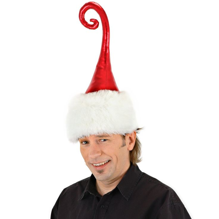 Amazon Com Elope Curly Q Santa Hat Toys Amp Games