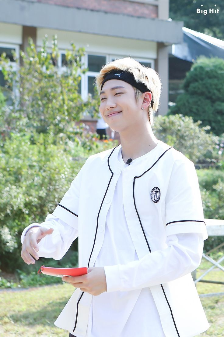 They also had mini sports competition. Our emcee for today is RAP MONSTER!