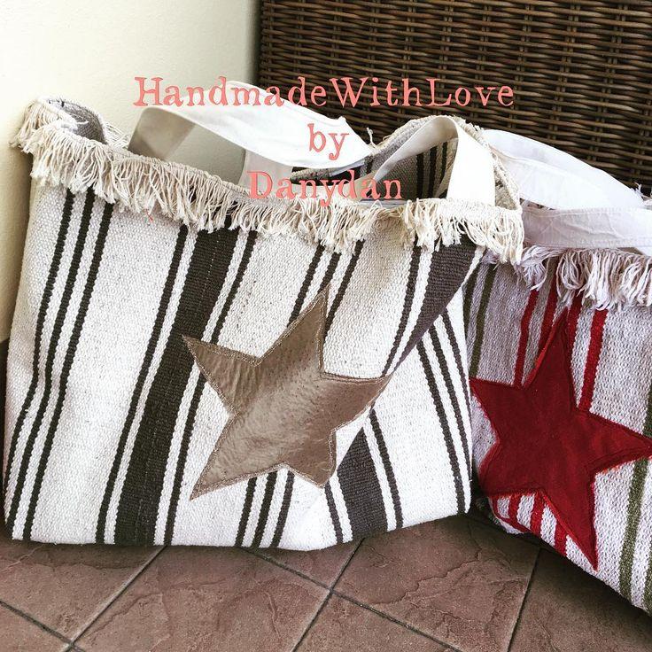 I tappetini diventano glamour!!! #handmadewithlove #danydan #danydan67 #rugbag #star #handmadebag #beachbag #ikea #ikeaideas #ikearug