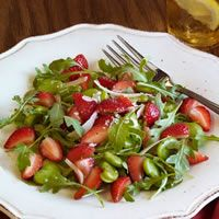 Strawberry and Fava Bean Salad with Pecorino