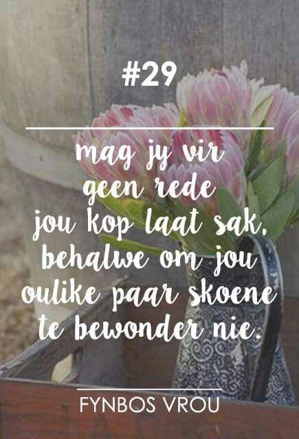 Lig op jou kop! __[Fynbos Vrou/FB] # 29 #Afrikaans