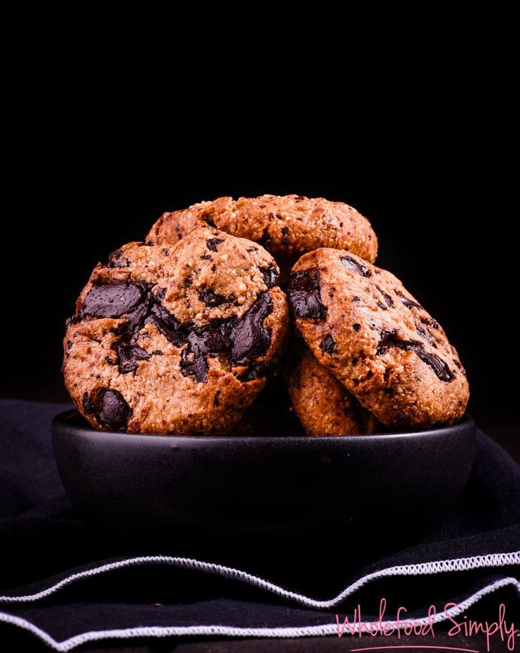 Chocolate Chip Cookies. Simple, delicious and free from gluten, grains, dairy, egg and refined sugar. Enjoy.