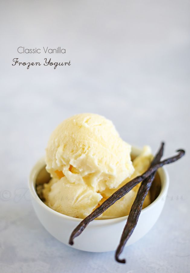 Classic Vanilla Frozen Yogurt - just 5 ingredients - no churn. That's what I'm talking about! on kleinworthco.com