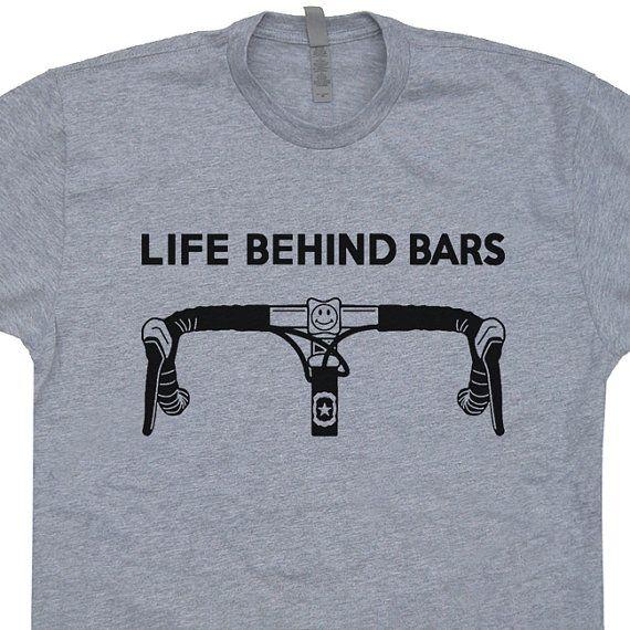 Vie derrière Bars vélo T SHIRT Racing Strong Triathlon est bon vivre vélo vélo drôle VTT Tee