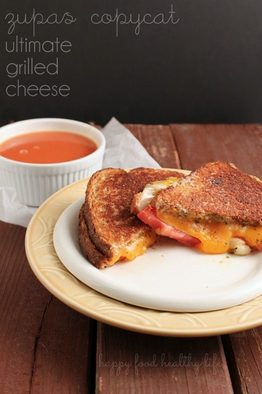 Copycat Zupas Ultimate Grilled Cheese. This is what Comfort Food looks like! www.happyfoodhealthylife.com