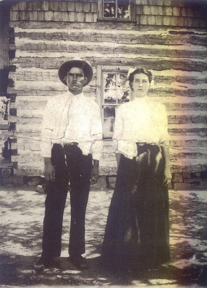 James Duncan (Cherokee) and his wife, Nancy Jane Alread-Duncan in Muskogee, Oklahoma - 1910