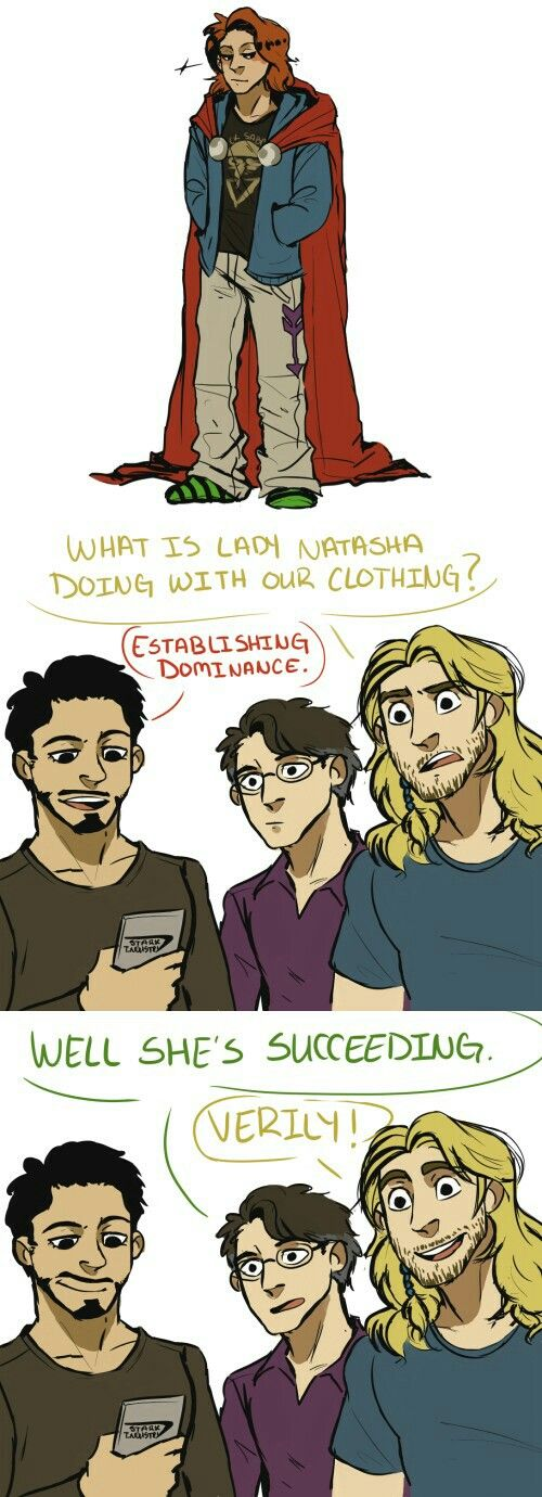 Art based on the post by flowerhulk.tumblr<<< I think it's Tony's shirt, Clint's pants, Thor's cape, Steve's sweater and Bruce's socks